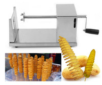 Wholesale High quality New Stainless Steel Manual Spiral Potato Chips Twister Slicer Cutter Tornado Hot