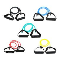 Wholesale Natural Rubber Latex Fitness Resistance Band Resistance Rope Elastic Exercise Workout Yoga Band Pilates