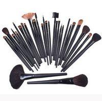 Wholesale 32Pcs Professional Makeup Brushes make up Cosmetic Brush Set Kit Tool Roll Up Case JJD10301732