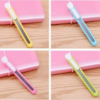 Wholesale Promotions Candy color utility knife KS5 alloy steel Blade paper knife wallpaper knife safe Removable paper cutter diy Handmade knife