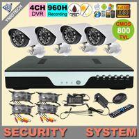 cctv cctv dvr - 4CH CCTV System H HDMI DVR w TVL IR Weatherproof Outdoor CCTV Camera kit freeship