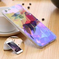 artist frames - Colorful Artist Pattern Back Cover For iPhone S inch For iPhone Plus S Plus Slim Clear TPU Frame Shockproof Cover Bag