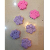 cupcake soap - 6 Cat s Paw Silicone Ice Cube Chocolate Cake Cookie Cupcake Soap Molds Mould
