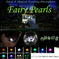 battery operated twinkle lights - 50pcs Fairy Pearls Battery Operated Mini Twinkle LED Light Berries CM Floating LED Ball For Wedding Party Events Decoration Light