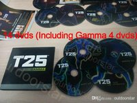 Cheap Focus T25 14 DVDs with 4 Gamma DVDs Band Crazy Potent Slimming Training Set Alpha Beta Gamma Core Speed Workout Body Exercise Fitness Video