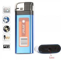 Wholesale 2016 Q8 Blue Mini HD DVR Lighter Pinhole Camera NEW Spy Hidden USB Mini DV Lighter DVR Camera Video Recorder Cam Camcorder