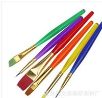 Wholesale Factory pack color bar DIY children brush Manicure gouache cake pen pen
