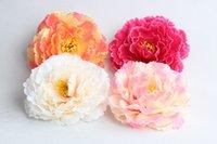artificial clothes - Brooch Peony Hydrangea Foam Plumeria Artificial Flower Head Wedding Bouquet Clothing Hat Flower Garland Home Decoration Hair Flower Floral