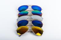 Wholesale Men Women Sunglasses Frog Mirror Reflective Sunglasses high quality Eye Glasses UV400