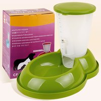 Wholesale 28 provinces nationwide shipping pet dog automatic feeder bowl dog bowl stored grain sizes common in dogs and cats