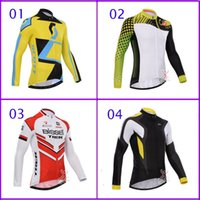 Wholesale Bissell Trek Sram Bike Jerseys Long Sleeve Autum Long Sleeve Outdoor Scott Team Cycling Tops Breathable Castelli Northware Riding Wear
