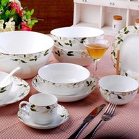 autumn tableware - Ceramics dinnerware set quality bone china bowl tableware autumn