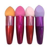 Wholesale New Arrivals Women s Make Up Sponge Brush Cosmetic Brushes Oval Drop Liquid Cream Foundation Concealer T221
