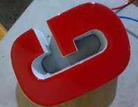 Wholesale 3D resin LED signs front illuminated red letter name logo business signs