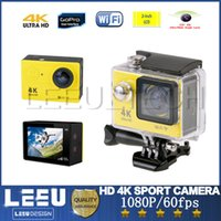 Wholesale H9 Ultra HD K WIFI Action Camera P fps Diving M Waterproof Sports Camera Lens LCD Helmet Cam Video HDMI Out