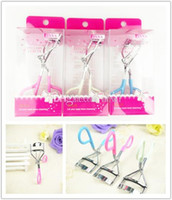 Wholesale Wonderful Pro Handle Eye Curling Eyelash Curler Metal Candy Color Eyelash Clip Beauty Makeup Tools Accessories