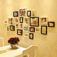 Wholesale Porta retrato Creative Gift Home Decoration DIY Wood Photo Frame Wall Picture Album High Quality JK678442