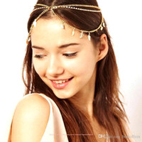 Wholesale Cheapest Hot Selling Sexy Women Boho Bohemian Headbands Head Chain Metal Wedding Forehead Hair Jewelry Accessories Head piece