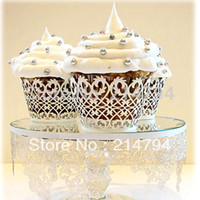 baby fence - DHL Fence Version Mix Color Pearl Paper Cupcake Wrapper Laser Cutting Muffin Cake Decoration Baby Shower