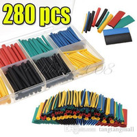 Cheap 280pcs Free Shipping 2:1 8 Sizes 11 Colors Assortment Polyolefin H-type Heat Shrink Tubing Tube Sleeving Wrap Wire Cable Kit A5