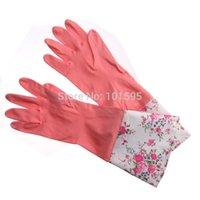 long rubber gloves - New Hot Long Rubber Gloves Long Comfortable Latex Bowl Washing Gloves Cleaning Rubber Car Wash Gloves