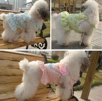 Wholesale Pet supplies summer teddy pet clothes see through dress spring summer dogs clothing flower suspender skirt