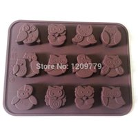 Wholesale 1pc Silicone Lovely Owl Cake Decorating Mould Cookies Candy Chocolate Soap Baking Mold IB038 W0