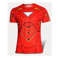 cycling jersey wholesale - New Top Sales Superhero T shirt men Cycling jerseys Spiderman Batman Avengers Captain Clothing Racing Bicycle cycl T shirt
