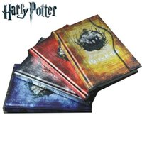 magnetic paper - Hot Harry Potter Magnetic Clasp Vintage Notebook Stationery Diary book High Quality Notepad School Supplies Christmas gift