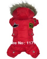 air free dog clothes - New Arrival Red Warm Enough Air Men Pet Dogs winter Coat Dogs Clothes new clothing for dog