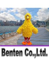 big bird feathers - 2015 hot yellow sponge body feathers adult big bird mascot costume EMS high quality LLFA4127F