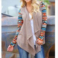 aztec sweater coat - 2015 new women Aztec Cardigan female long asymmetrical knit coats sweaters air conditioning sweater