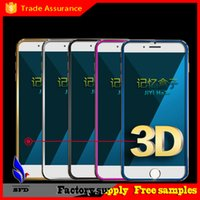 anti hd - New coming D Curved Tempered Glass Colorful Full Front H HD Premium Screen Protector for iphone iphone plus with crystal retail box