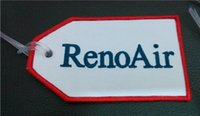 Tag baggage size - Red Reno Air Aviation Baggage Tag With Customized Embroidered Logo Accept Any Color and Size per