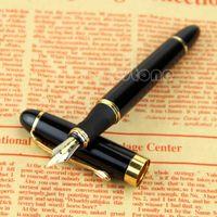Wholesale pc Jinhao X450 Fountain Pen Black Medium Nib Gold Trim New