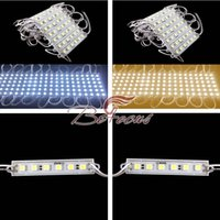 Wholesale 20Pcs SMD5050 LED Module Waterproof IP65 DC12V Cool White Warm White Natural White Red Green Blue Yellow Light Bright Lamp