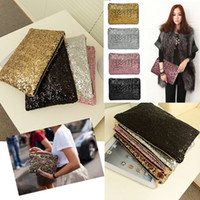 Wholesale Sequin Glitter Wallet - Glitter Sparkling Bling Sequins Evening Party Pure Bags Hot Sale Women Clutch Wallet Handbags Hot Sale Free Shipping