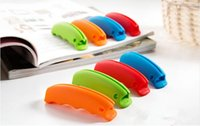 Wholesale Promotion reusable silicone shopping bag handle shopping bag carrying handle Silicone Shopping Handle Bag Clips Handler Bag