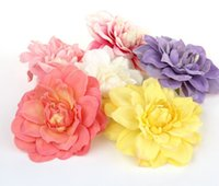 Wholesale 20pcs Dahlia silk flower head artificial flowers diy hair accessory hat clothes wedding decoration flowers cm