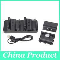 Nuevos accesorios cargador de doble estación de carga de carga + 2 baterías para el controlador inalámbrico XBOX ONE Hot Sale 010208
