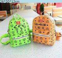 mcm bag - Women fashion mini shoulder bag kids children school bags famous brand designer girls MCM backpack men s boys leather backpacks w089