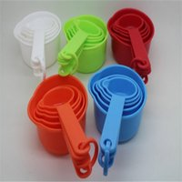 kitchen ware - 11pcs Multicolor Plastic Measuring Spoons Cups Measuring Set Tools For Baking Coffee Kitchen Ware Measuring Cups