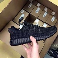 Wholesale 2016 Kanye West Boost Sports Shoes BEST QUALITY black moonrock sports running shoes Athletic Boots sneaker US5