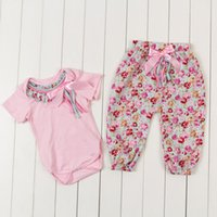 Cheap baby clothes Best floral girls clothing set