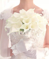 Wholesale Hot Sale White Artificial calla lily flowers Bridal Wedding Bouquet Latex Real Touch Flower Bouquet