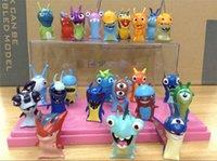pvc cartoon figure - 24 Pieces Set Slugterra toys Movie Cartoon Slugterra PVC Action Figures Dolls Gift for Children