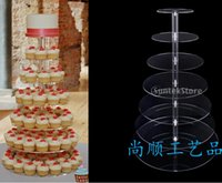 acrylic glasses display shelf - Layer hotels of high grade acrylic cake Seven layers of transparent acrylic display shelf Circular glass frames