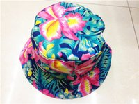 Red floral bucket hat - Top Quality Summer Flower Lace Bucket Cap Cotton Outdoor Sun Hats