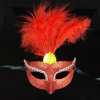 bars uppers - Bright Color Masquerade Women Mask Half Face Venice Bar Party Performance Cosplay Mask Halloween Decoration Festive Supplies SD444