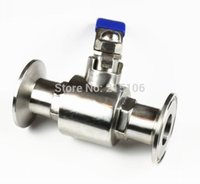 Wholesale 1 quot SS304 Stainless steel Way Tri Clamp Manual Ball Valve T Shaped Homebrew Beer No WS002